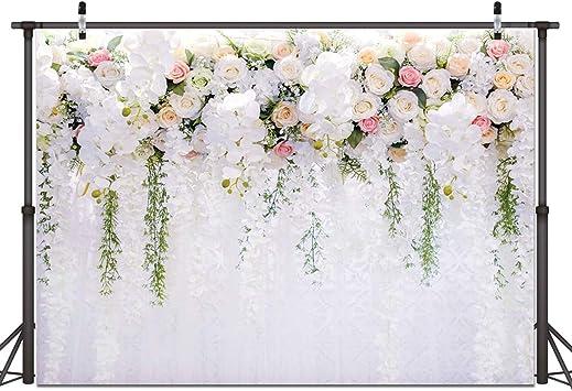 Amazon Com Fondo De Fotos De Flores Blancas Para Decoración De Bodas Bodas Tartas Mesas Fondos Para Decoración De Bodas Y Fiestas De Cumpleaños 7 X 5 Pies 059 Camera Photo