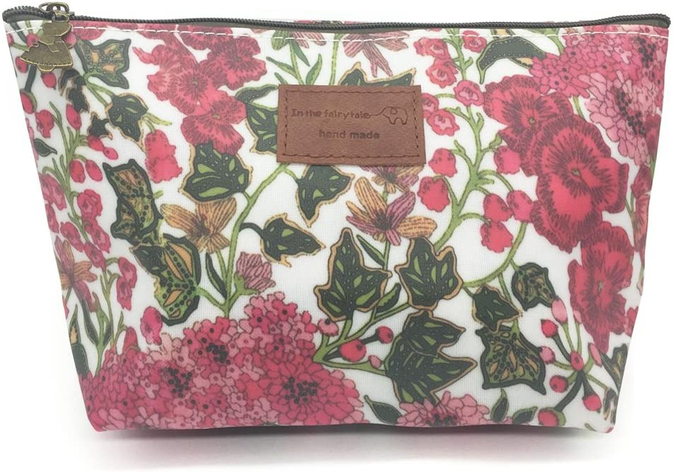 HUNGER Floral Print Make-Up Cosmetic Tote Bag Carry Case, 14 Patterns (P1141709)