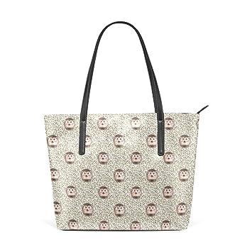 2fa02a853dfb5 Amazon.com   Hedgehog Women's PU Leather Tote Shoulder Bags Handbags Casual  Bag   Gym Totes