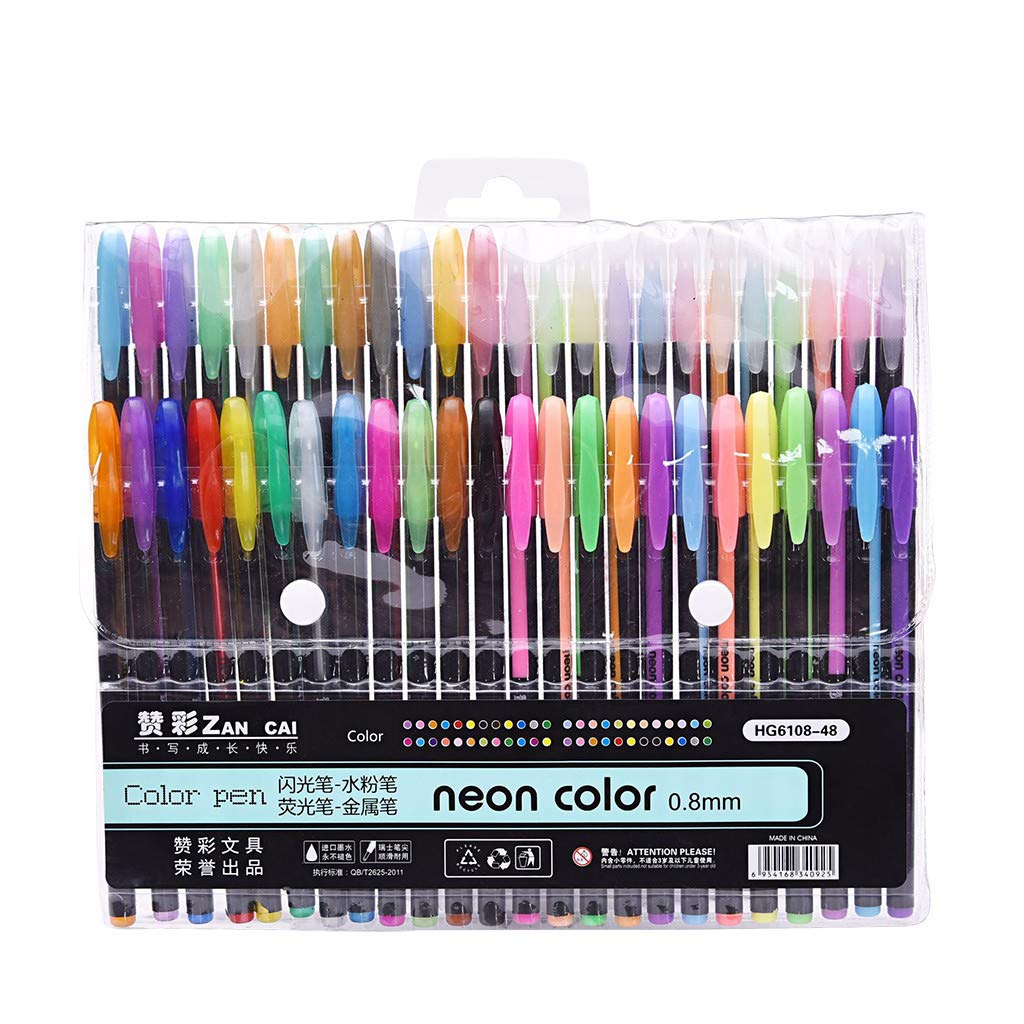 DEtrade Office School 48 Colors Refills Marker Aquarell-Gelstift sustituir a los consumibles de Dibujos Scrapbooking e Invitaciones bocetos