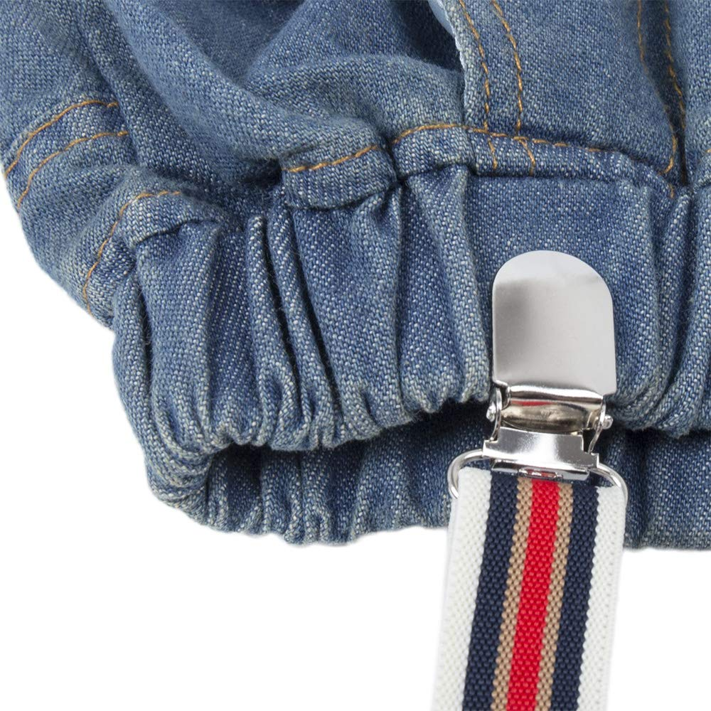 BIG ELEPHANT Kid Boys2 Pieces Long Sleeve Shirt Suspender Pant Set with Bowtie U95C