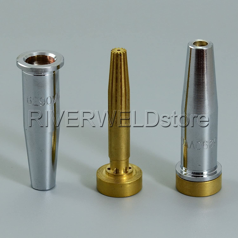 2PCS Harris Acetylene Cutting Tips 6290VVC Size 1