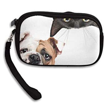 Amazon.com: Carteras para mujer Bulldog negro gato muñeca ...