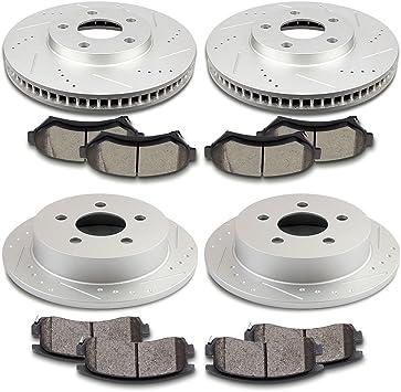 Front Rear Ceramic Discs Brake Pads For Chevrolet Monte Carlo Impala 2000-2005