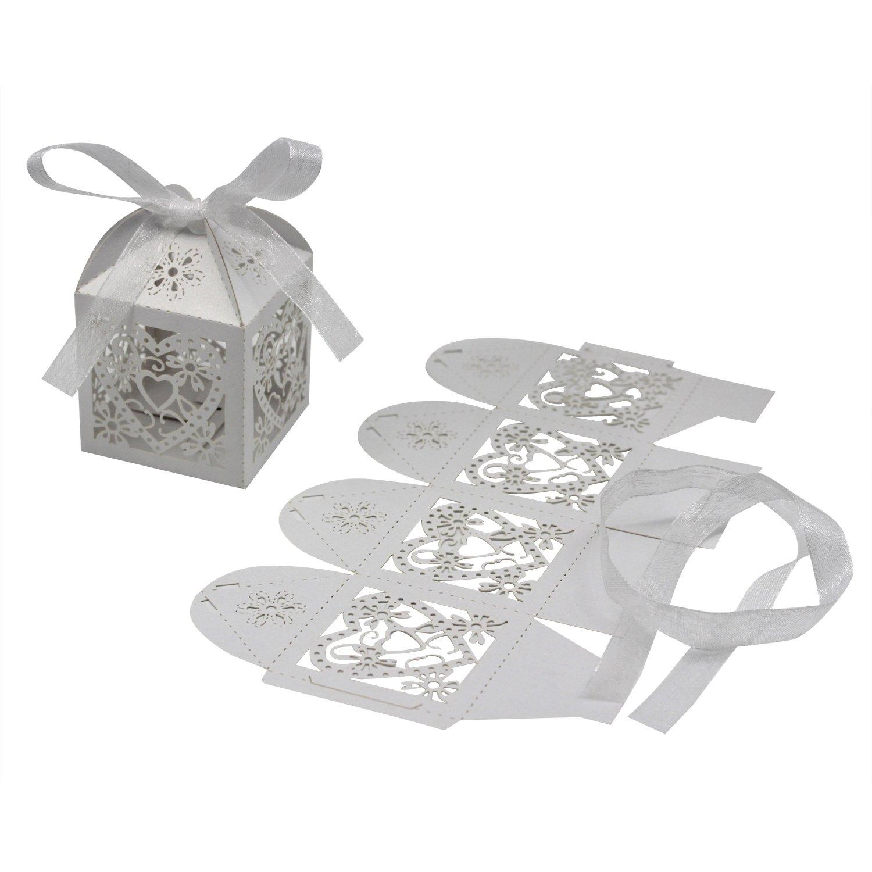 Amazon.com: KEIVA 70 Pack Love Heart Laser Cut Wedding Party Favor ...
