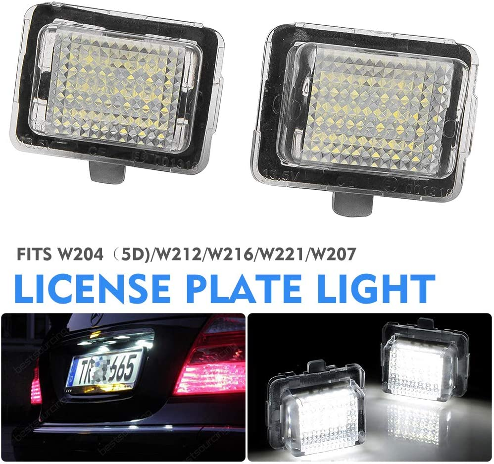 For Mercedes Benz W204 W204 5D W212 C216 C207 W221 Led License Plate Light 6000K