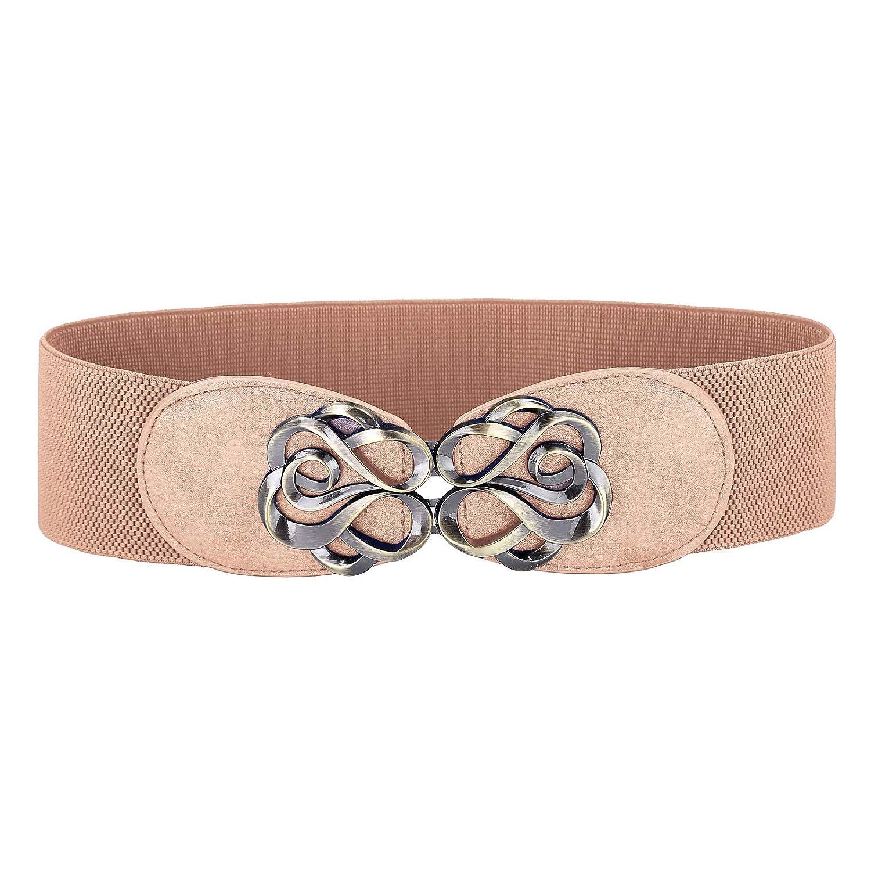 Women Stretchy Vintage Dress Belt Elastic Waist Cinch Belt CL413