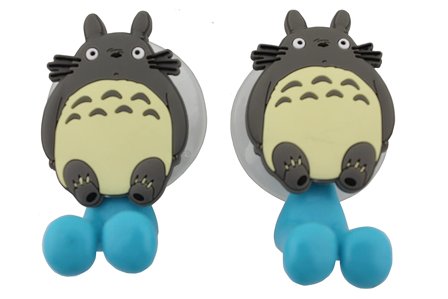 Amazon.com: FINEX My Neighbor Totoro Toothbrush HoldersSet of 2 with  Suction Cup for Wall in Bathroom: Home u0026 Kitchen