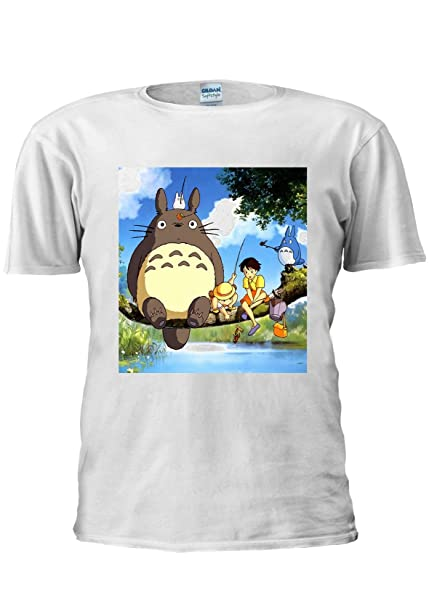 Camiseta del manga y anime japonés Mi Vecino Totoro, talla Unisex, para