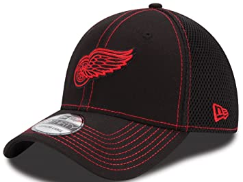 online store 9af53 f31de New Era Detroit Red Wings NHL 39THIRTY Black Team Neo Fitted Hat