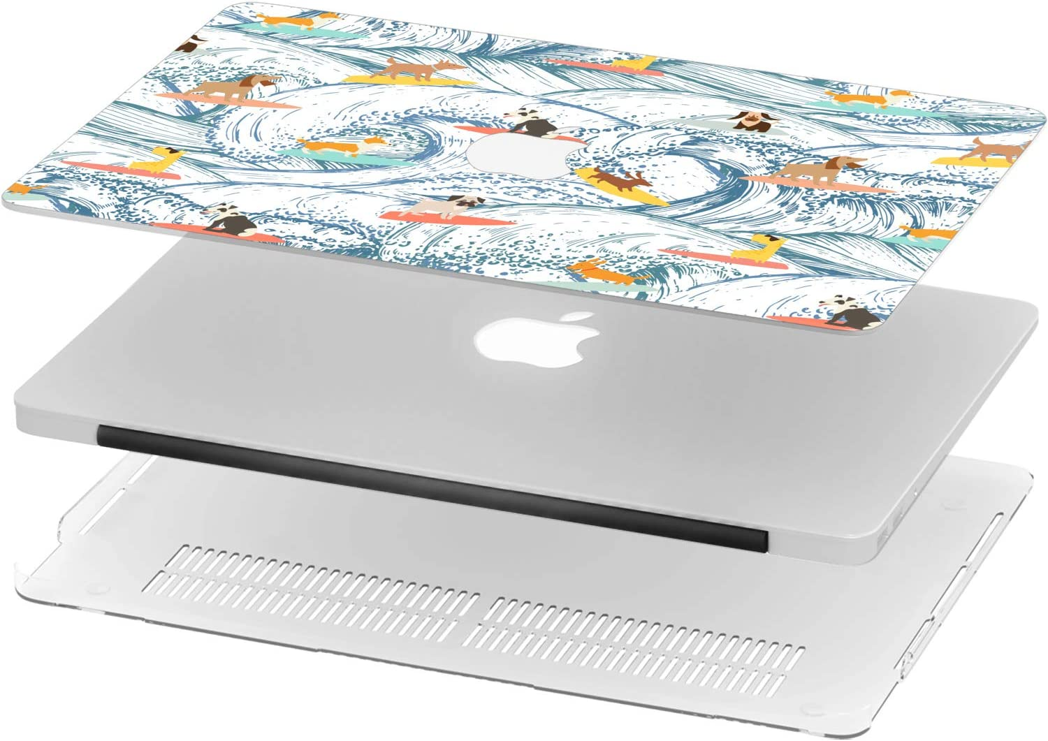 Mertak Hard Case for Apple MacBook Pro 16 Air 13 inch Mac 15 Retina 12 11 2020 2019 2018 2017 Funny Clear Dino Design Cute Cartoon Protective Laptop Dinosaurs Pattern Touch Bar Animal Print Colorful