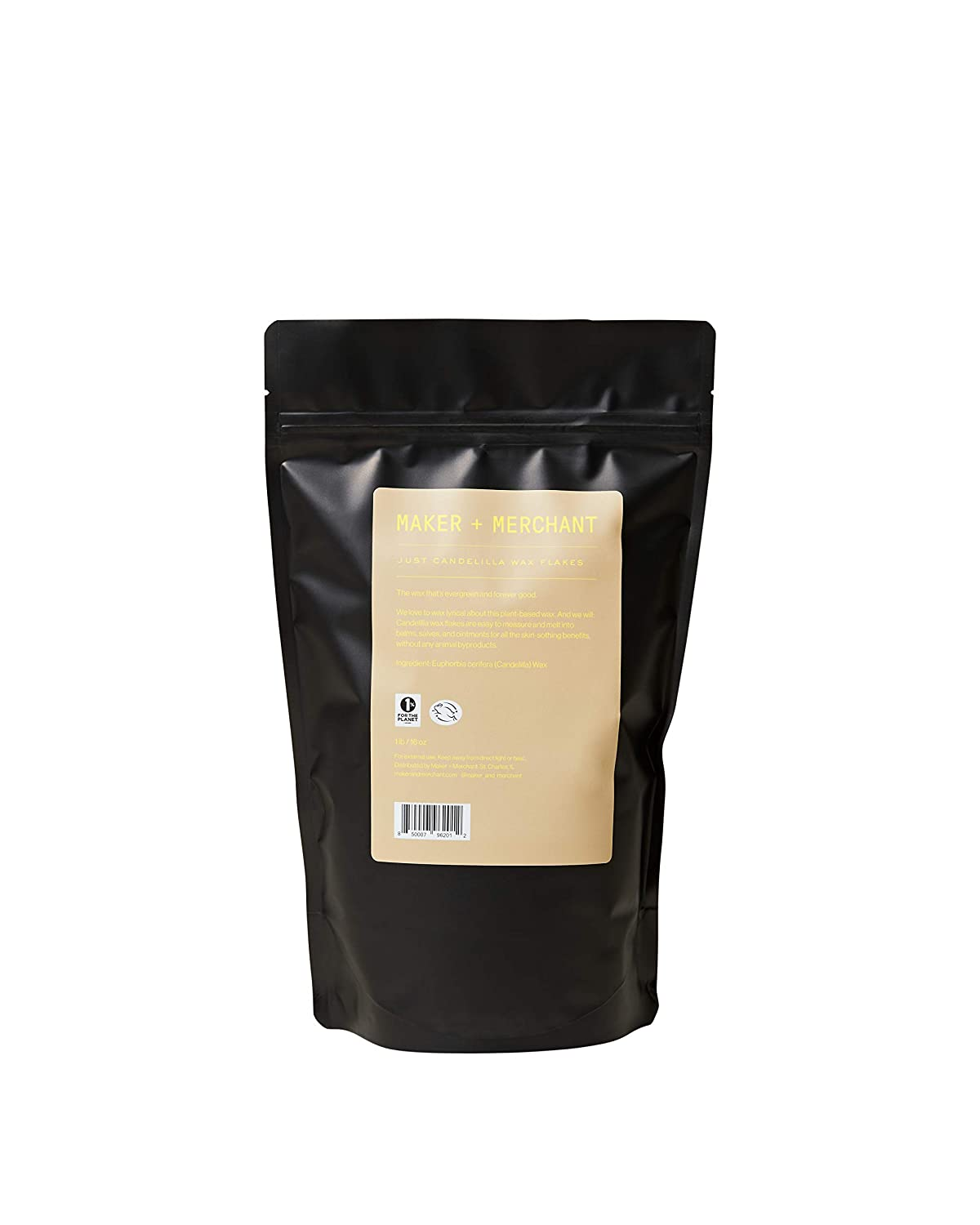 Maker and Merchant 100% Pure Candelilla Wax (1lb)- Sustainable, Vegan, Perfect for DIY Skincare