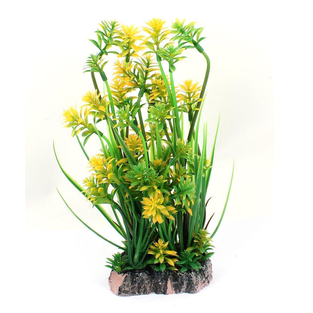 1Pc Ceramic Base Silicone Artificial Aquarium Plant Sunflower Decor colorful