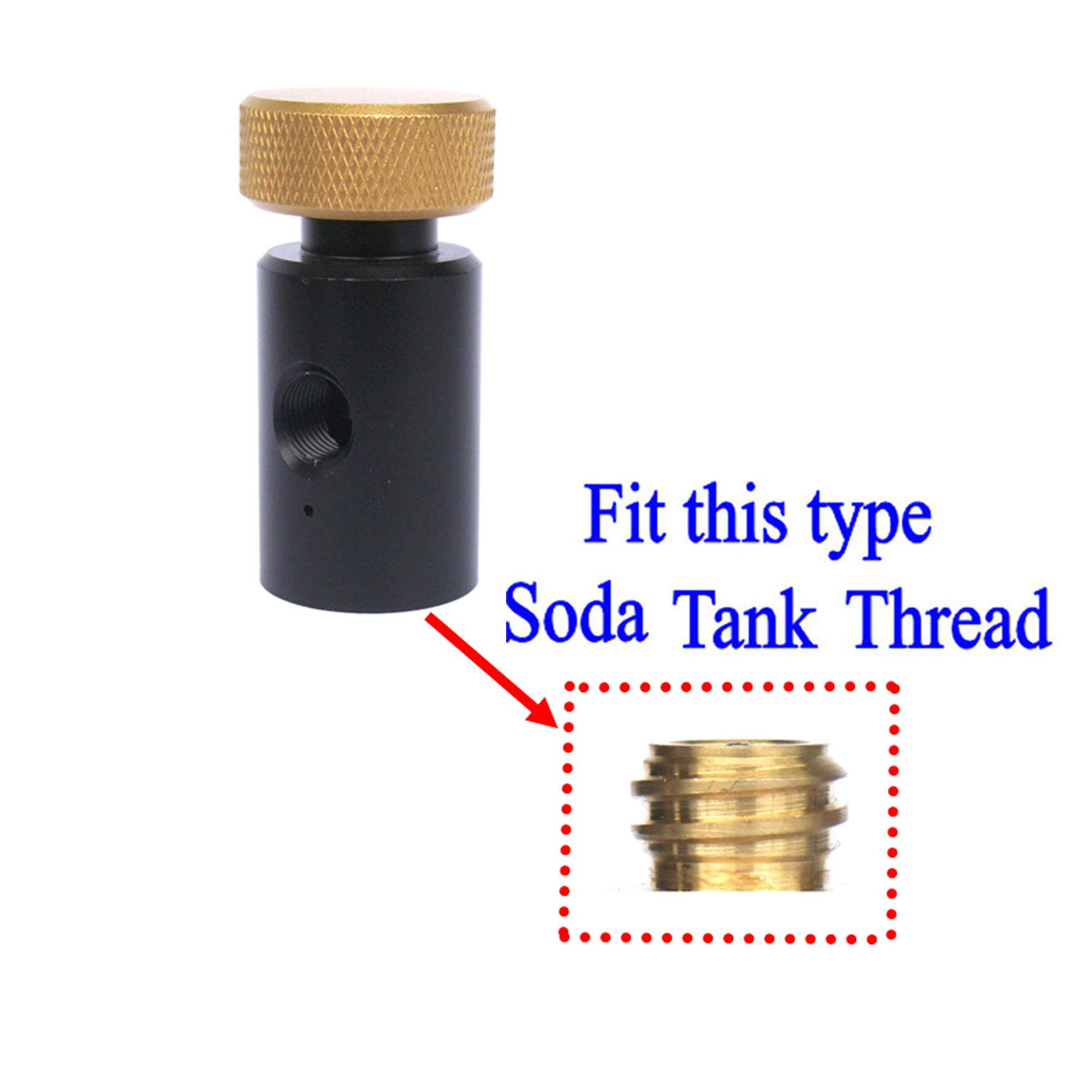 New CO2 ASA On/Off Adapter For Fill Soda tank