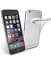 NEW'C Coque pour iPhone 6, 6S, [ Ultra Transparente Silicone en Gel TPU Souple ] Coque de Protection avec Absorption de Choc et Anti-Scratch