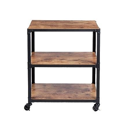 Superbe Mind Reader U0027 Charmu0027 3 Tier Wood Metal All Purpose Utility/Bar Cart,