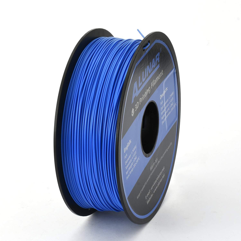 ALUNAR-3D Filament 1,75mm PLA 1KG Abbaubar, Blau 3d impresora filamento