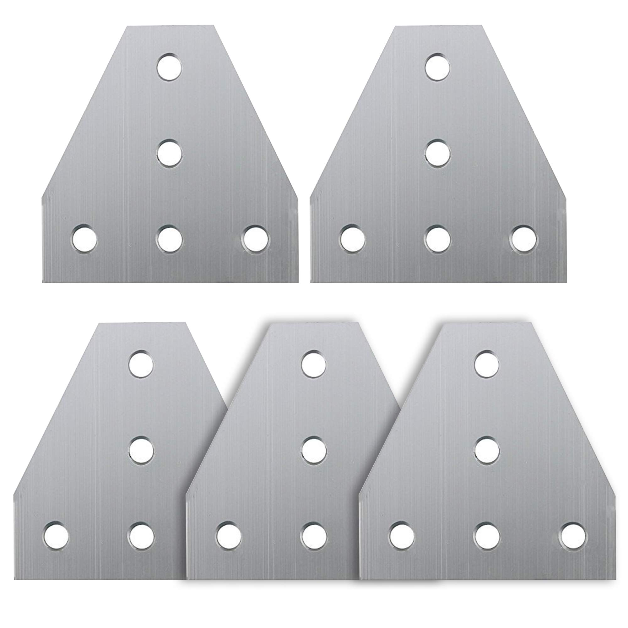 Iztoss 5-Hole 90 Degree Outside Tee Joining Plate for 2020 Series Aluminum Profile, Tee Joint Bracket Plate-5PCS in Pack