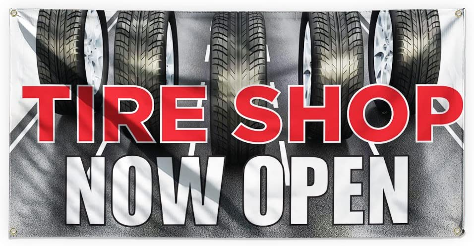FREE TYRE CHECK HERE Shop Large Indoor and Outdoor PVC Banner Sign ID 1920