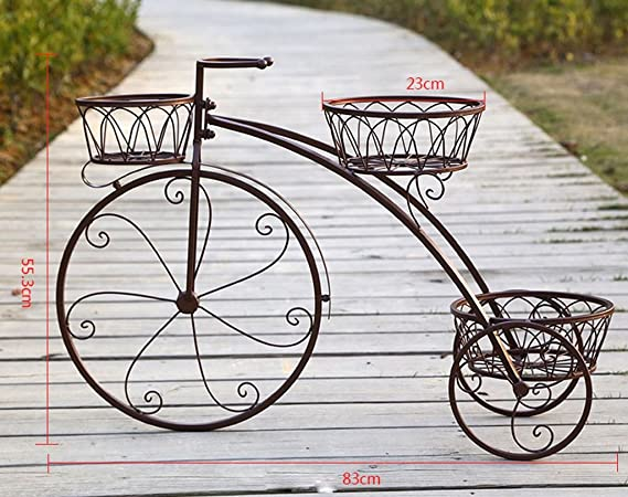 Udfybre Decorative Bike Flower Pots Rack de Estilo Europeo de ...