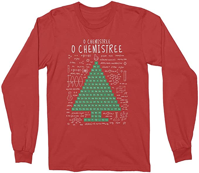 Amazon mixtbrand periodic table christmas tree adult long mixtbrand periodic table christmas tree adult long sleeve t shirt s red urtaz Choice Image