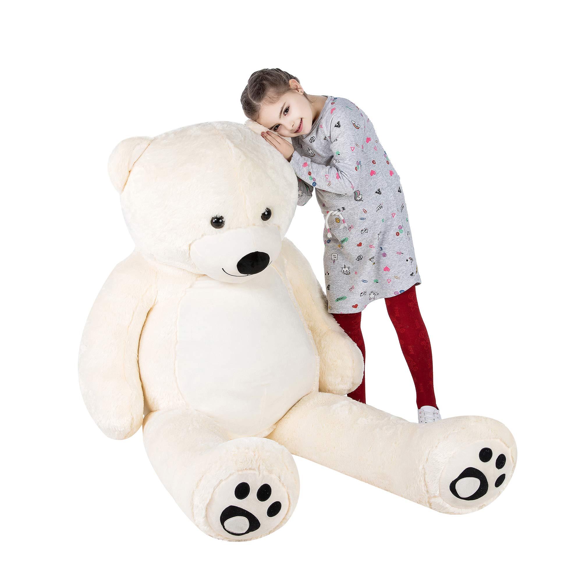 VERCART Giant Huge Cuddly Stuffed Animals Plush Teddy Bear Toy Doll for Birthday Children's Day Valentine's Day (72 inch, White) by VERCART