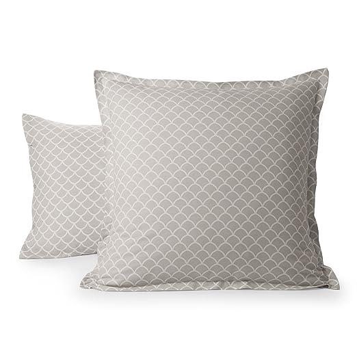 Funda de almohada Vice Versa, gris, 65 x 65 cm: Amazon.es: Hogar