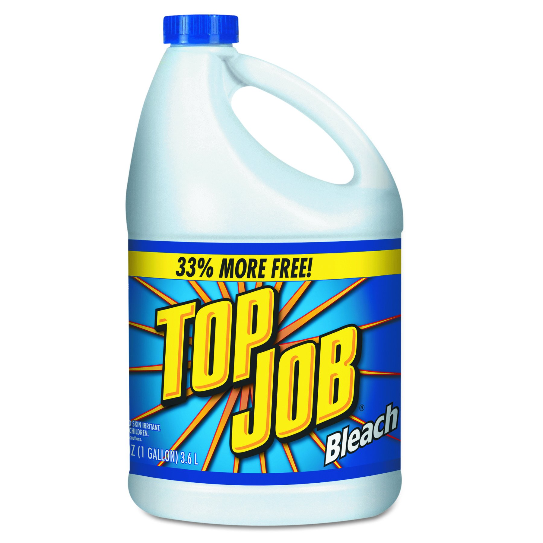 Top Job 11007735044 Regular Bleach, 1 gal Bottle (Case of 6)