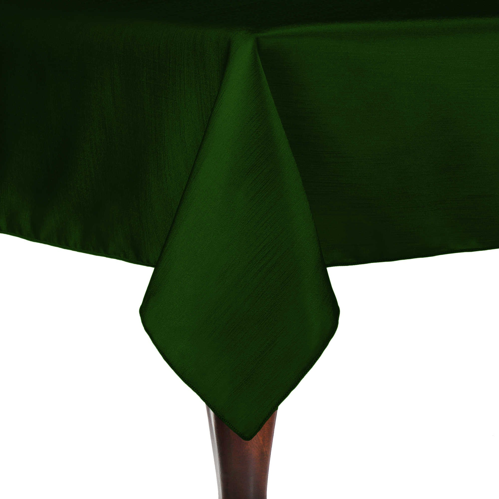 Ultimate Textile (10 Pack) Reversible Shantung Satin - Majestic 72 x 72-Inch Square Tablecloth - for Weddings, Home Parties and Special Event use, Hunter Green