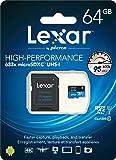 بطاقة ذاكرة هواتف خلوية - بطاقات مايكرو اس دي من ليكسر - 64 جيجابايت - LSDMI64GBBEU633A REV
