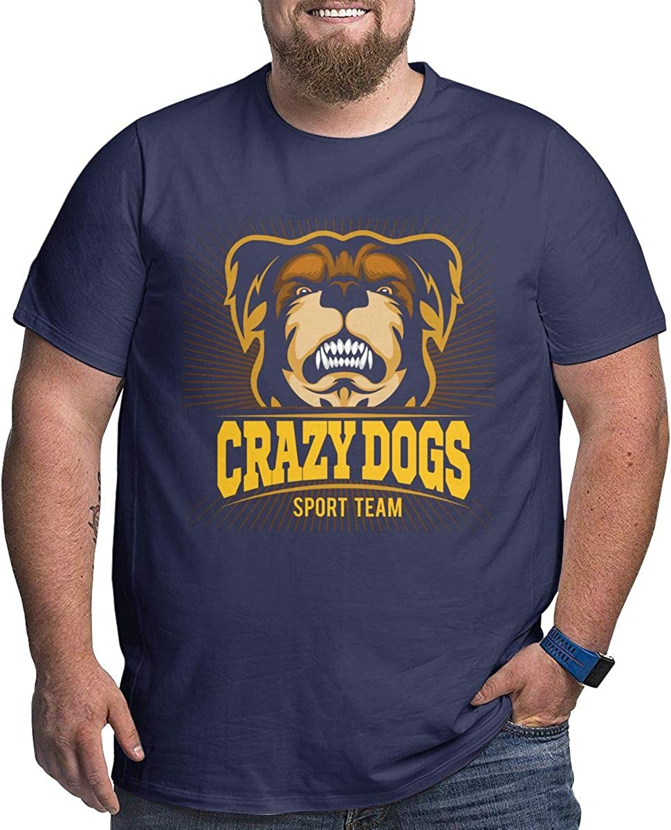 LONGTENG Customized Crazy Dogs Big Size T Shirt O-Neck Pure Cotton for Mens Black