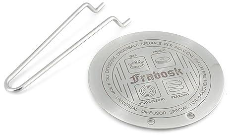 Frabosk Difusor para Inducción, Acero, Plata, 22 cm