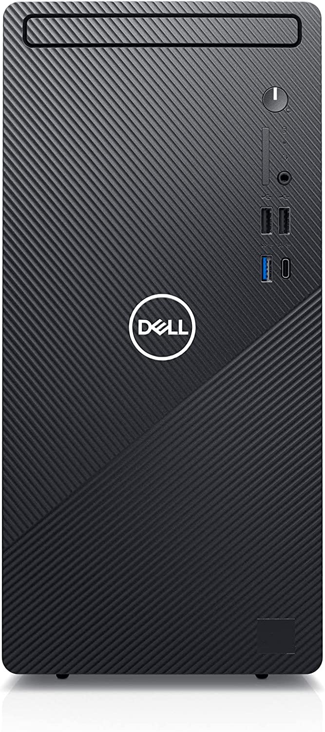 Dell Inspiron 3891 Compact Tower Desktop - Intel Core i5-11400, 12GB DDR4 RAM, 1TB SSD, IntelUHD Graphics 730 with Shared Graphics Memory, Windows 10 Home - Black (Latest Model)