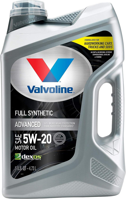 Valvoline Advanced Full Synthetic SAE 5W-20 Motor Oil 5 QT