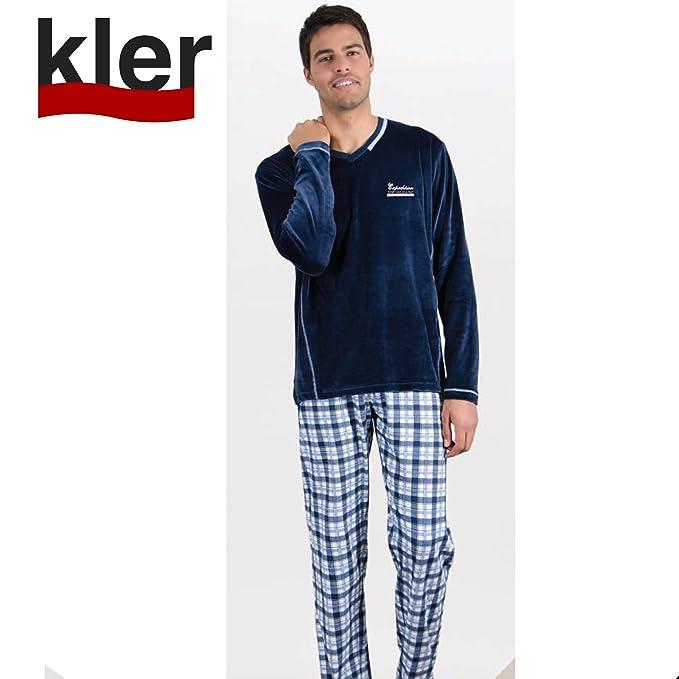 KLER - Pijama Hombre Color: Marino Talla: x-Large