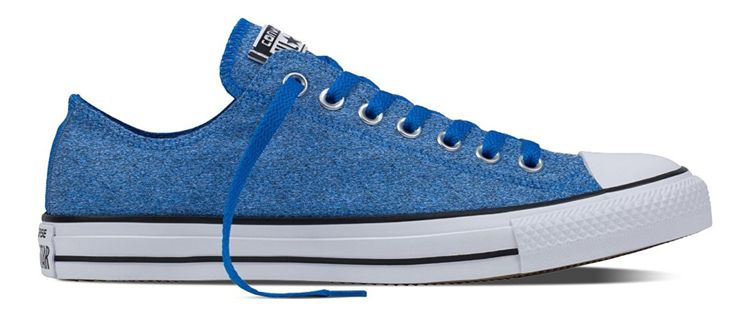 Converse Mens Chuck Taylor Oxford Blue Cotton Trainers 8 US