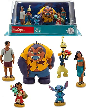 Atii Lilo Stitch Mini Figures For Cake Topper Room Decor And Kids Playing 10 Pcs Party Supplies Cake Toppers