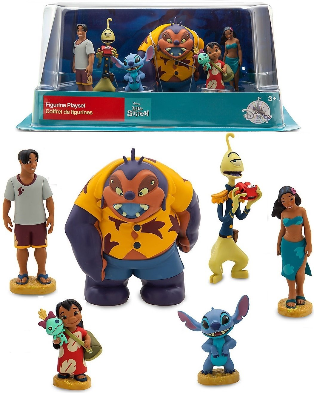 Disney LILO & STITCH FIGURINE PLAYSET Cake Toppers Set of 6 pvc doll Figures