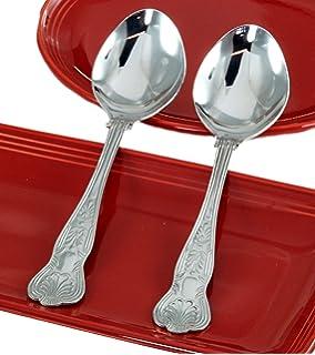 Kingus Stainless Steel Serving Spoons Cooking Spoons Children Dessert Spoons,Large
