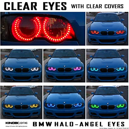 4f7e02514fc Amazon.com  Clear DEMON EYES BMW M3 E46 E36 E38 E39 Multi-Color Changeable  LED Halo-Angel Eyes Rings kit  Everything Else