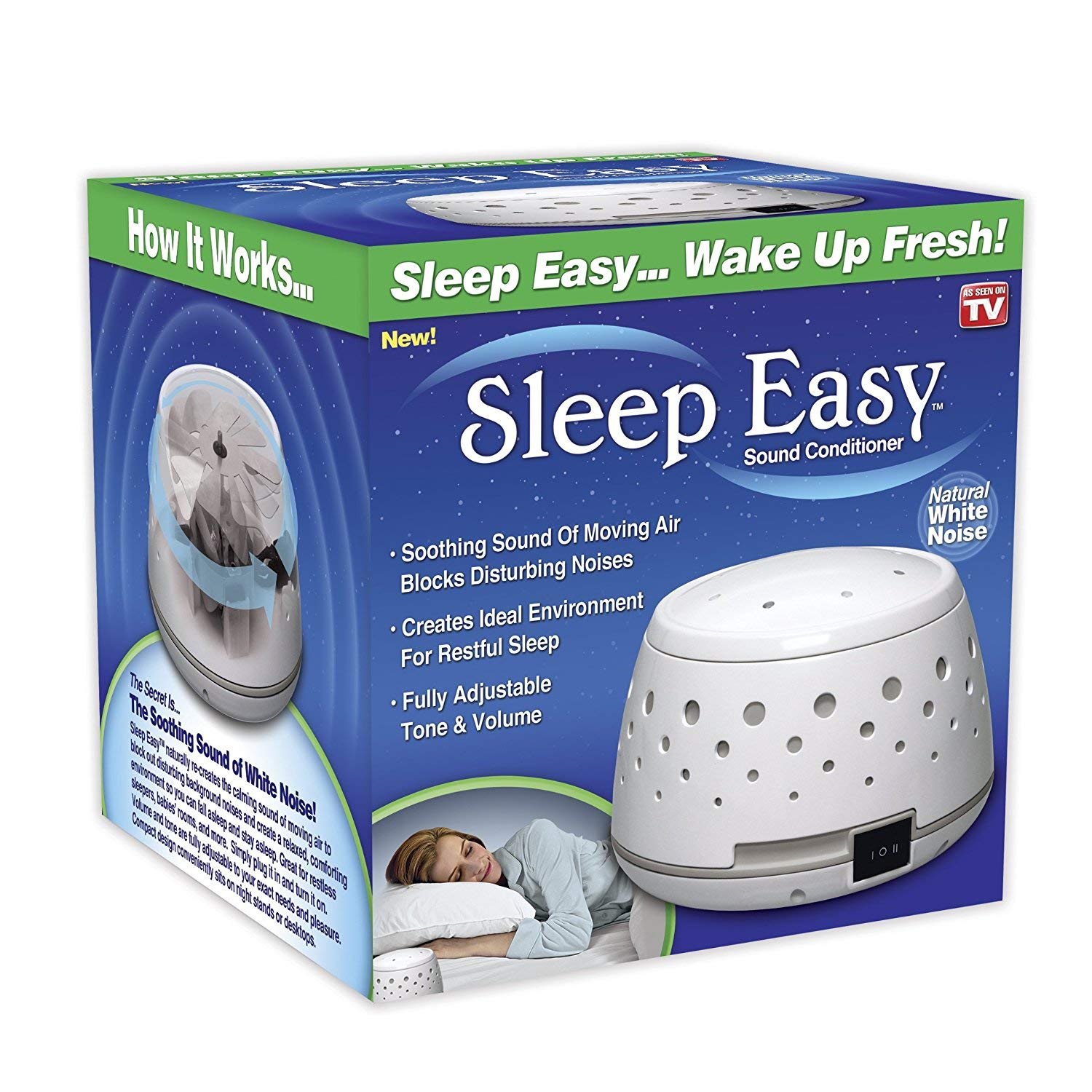 Sleep Easy Sound Conditioner, White Noise Machine (4 Pack)