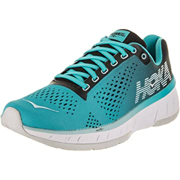 reliable HOKA ONE ONE Women's Cavu Running Shoe Black/Bluebird Size 7 M US