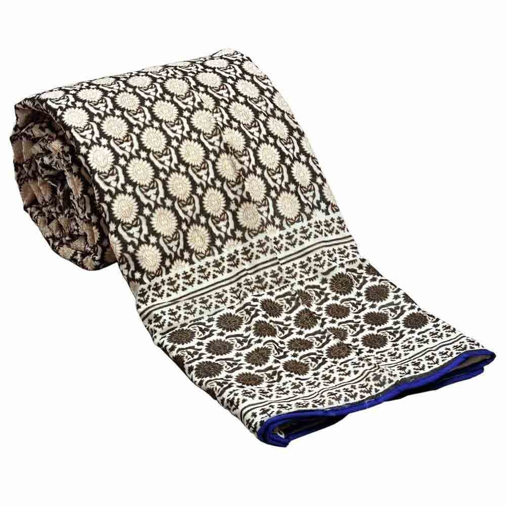 Little India Hand Block Printed Pure Cotton Double Bed AC Dohar 302