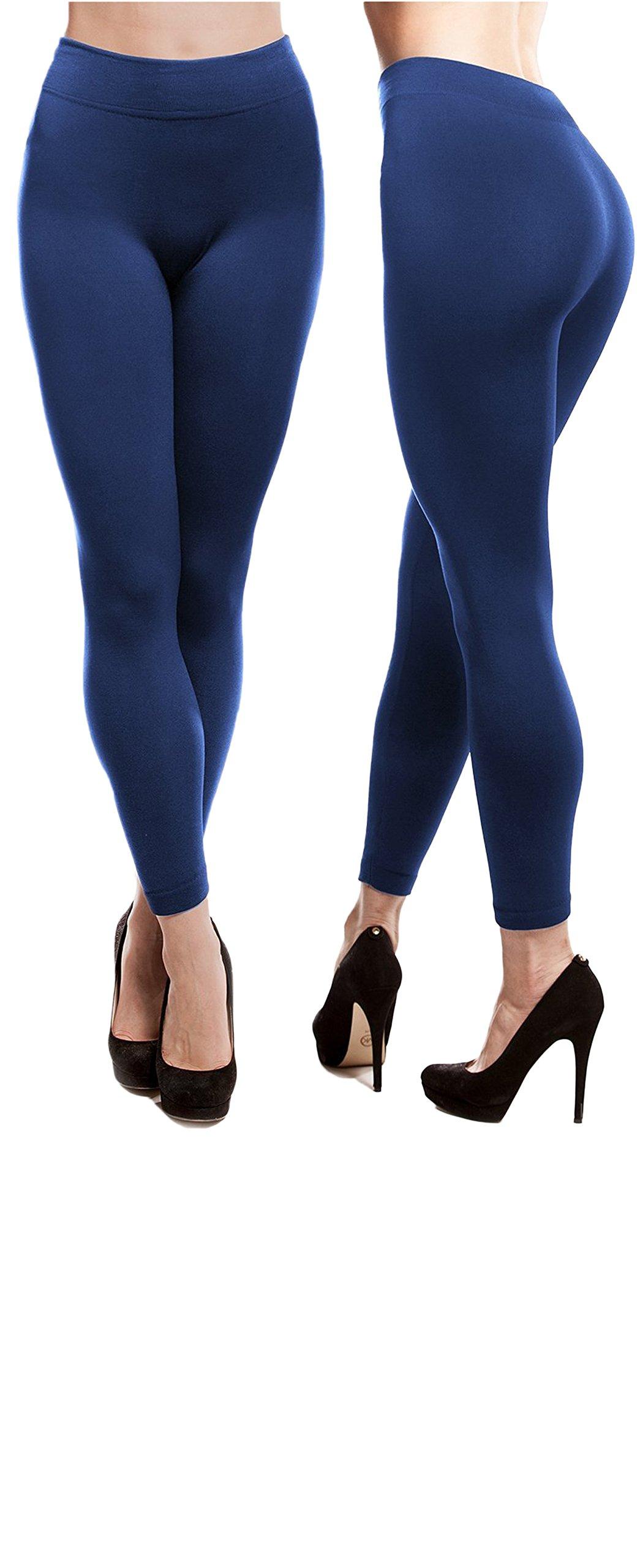 Best Brand Basics Women's 6 Pack Soft Spandex Fleece Lined Warm Long Leggings - Pack of 6 (S/M ( 5-6 ), 6 Pack - Black) by Best Brand Basics (Image #2)