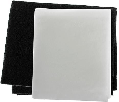 Spares2go Paquete de 2 filtros para grasa y olores para campana extractora o ventilador, corte a medida: Amazon.es: Grandes electrodomésticos