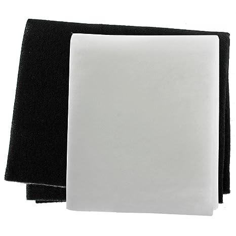 Spares2go Paquete de 2 filtros para grasa y olores para campana extractora o ventilador, corte