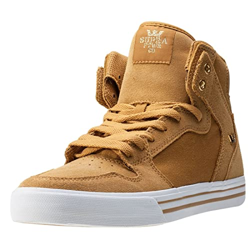 Supra Mens Vaider Amber Gold White Skate Shoes pYdSoF0r