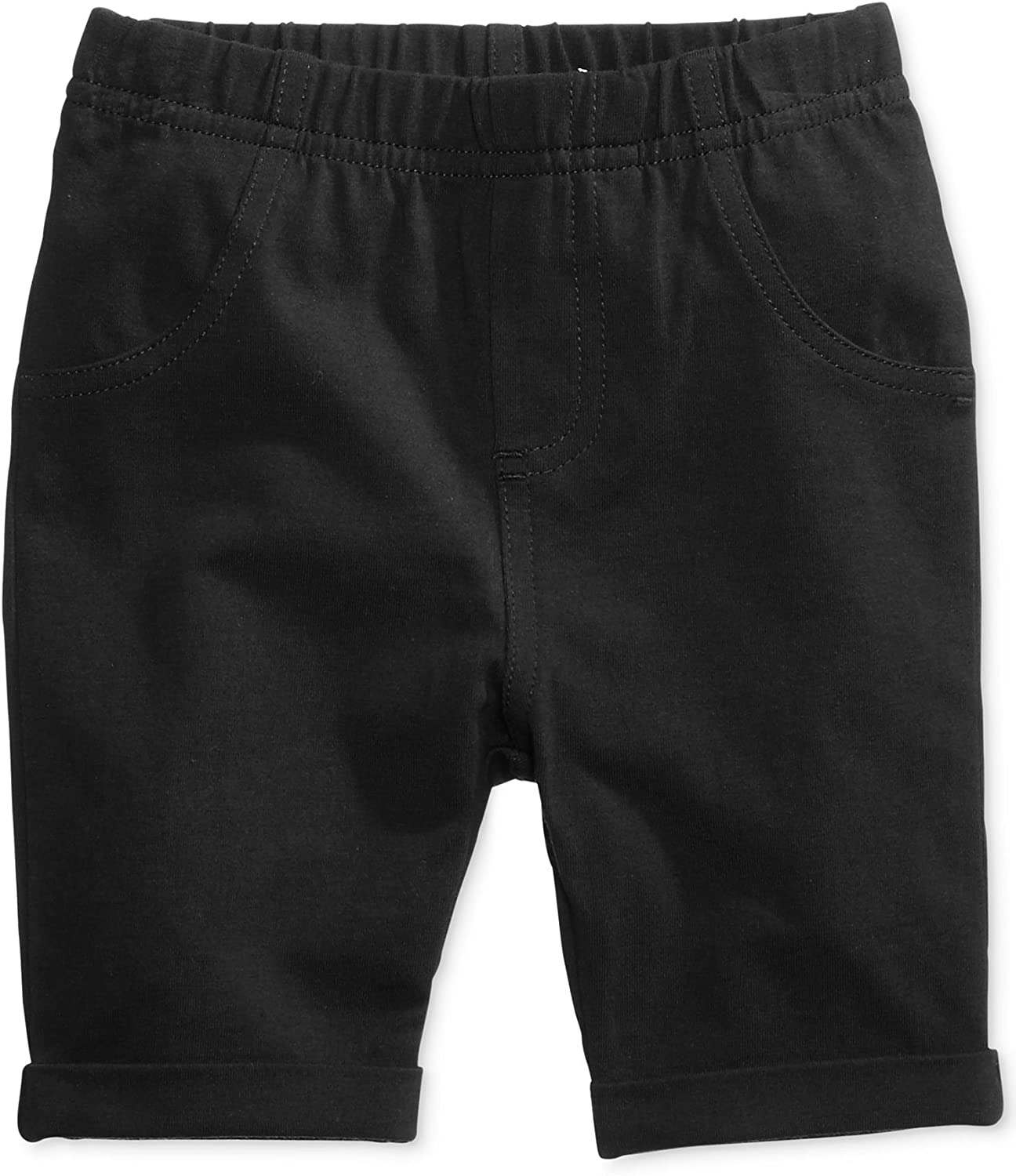 First Impressions Baby Girls Black Flat Front Walking Shorts