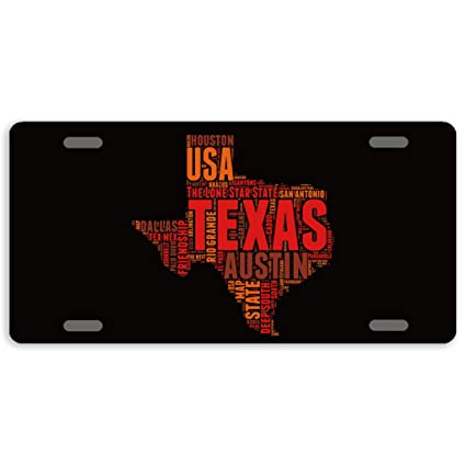 License Plate State Map.Amazon Com Eprocase 50 State Map License Plate Aluminum Car Plate
