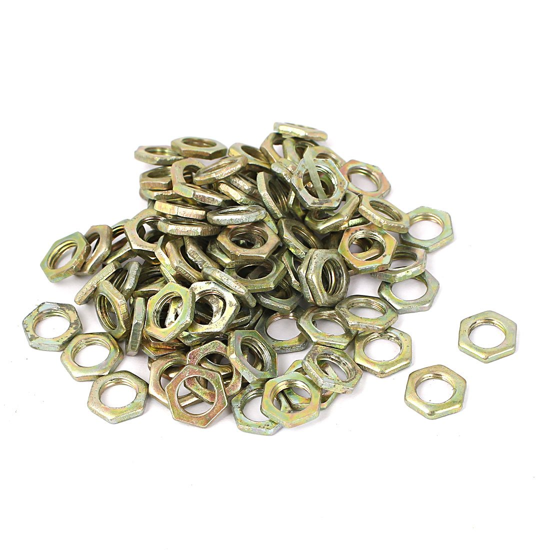 uxcell M7x0.75x2mm Carbon Steel Hex Nuts Fastener 100pcs for Screws Bolts SYNCTEA050980